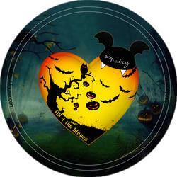 Halloween Pumpkin Tree Button