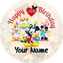 3in Bday Mickey & Friends w/ Cake
