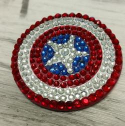 Captain America Sparkle Button