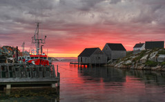 Last Light at Peggy's Cove