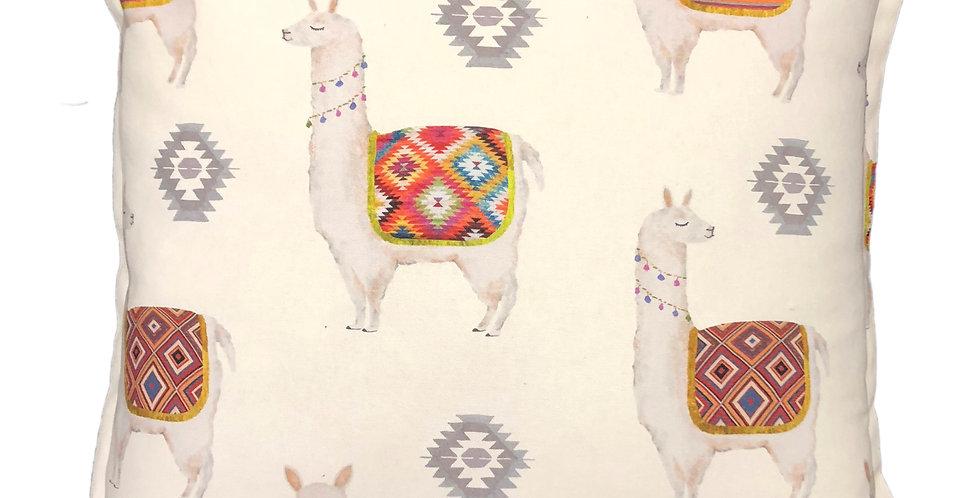 Lama White Cushion
