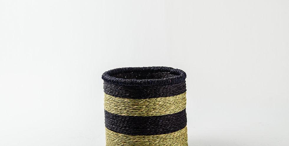 Natural Black Rim Basket - Small