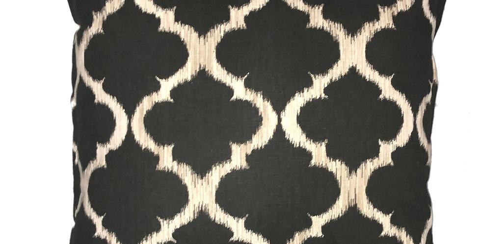 Black Trellis Cushion