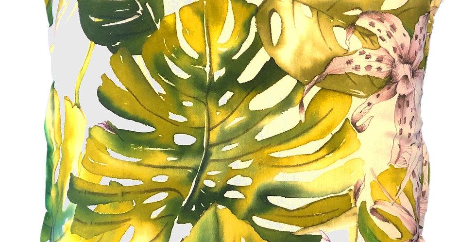 Cream Orchid Cushion