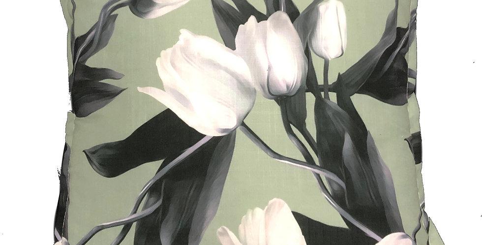 White Tulips Cushion