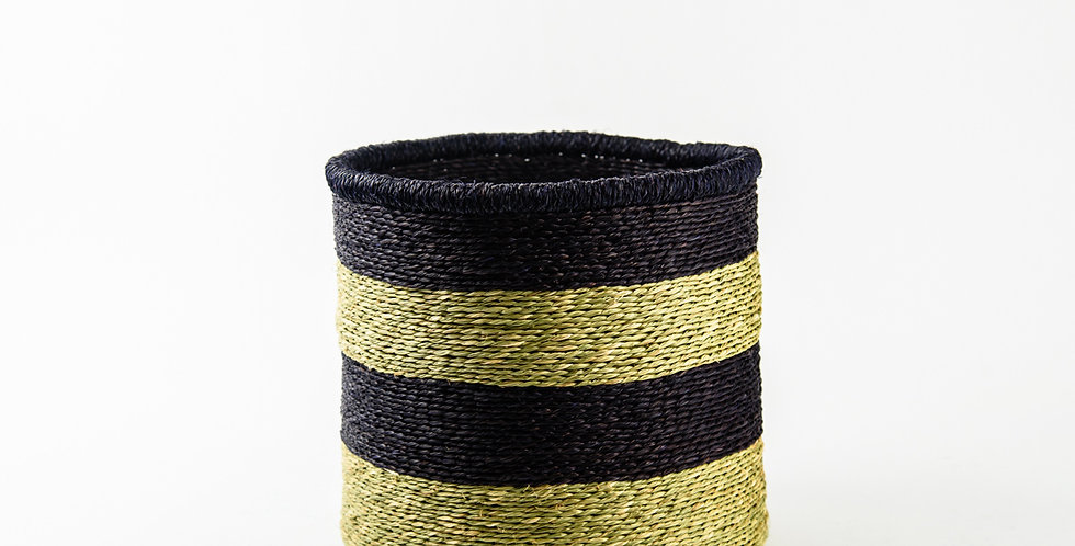 Natural Black Rim Basket - Medium