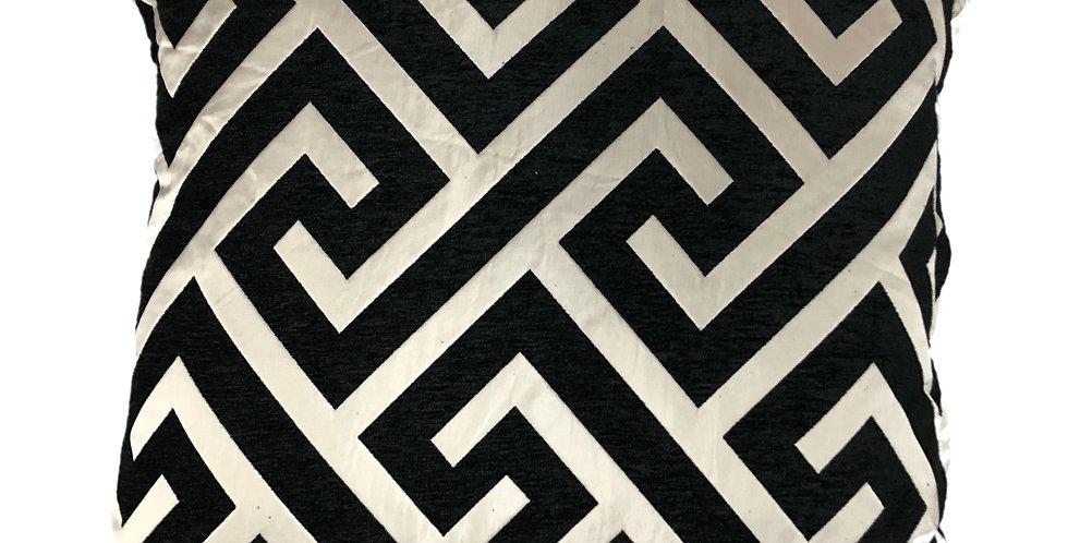 Geo Black Cushion