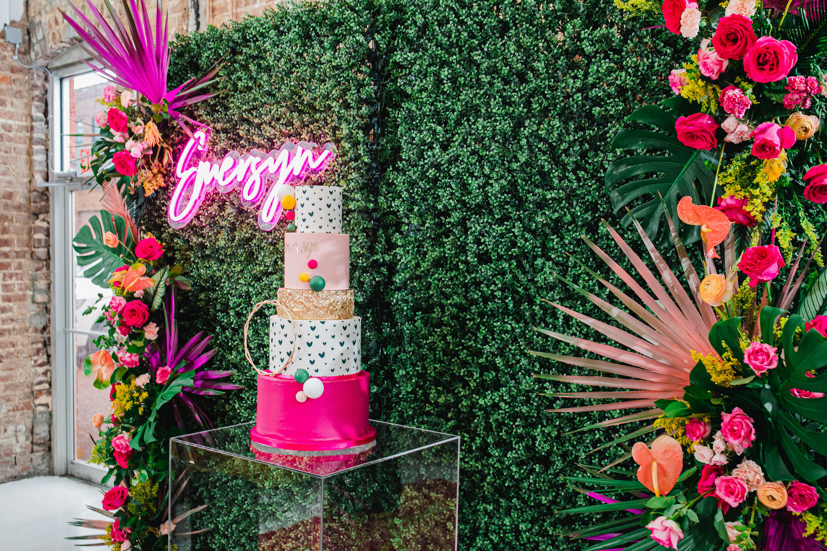 Photography YNOT Images Planner/Design ValiaRose Events Florals Vera Floral Design Cake AWilson Cakes Rentals Prophouse Bham