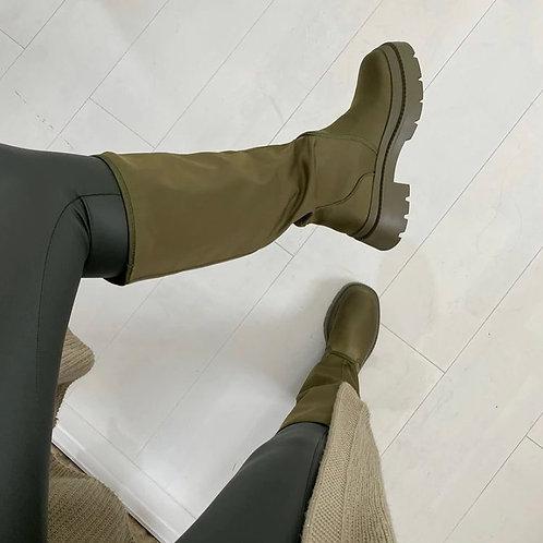 Bottes kaki