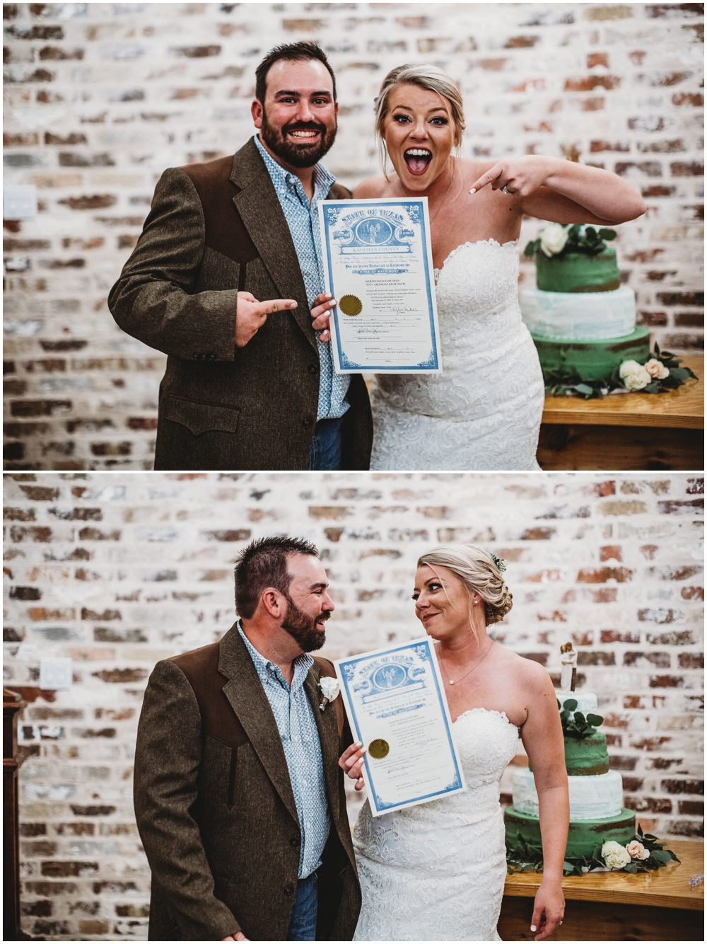 Signed Wedding Licence