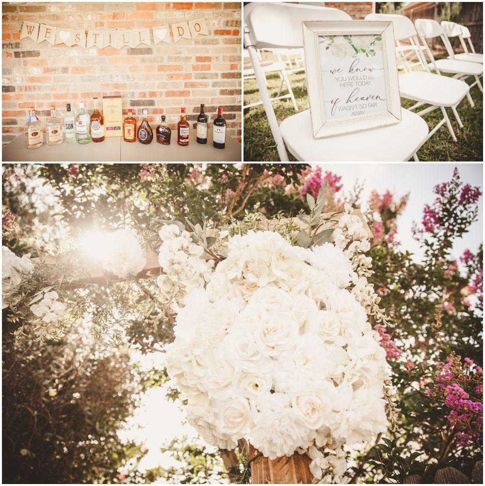 wedding booze flowers