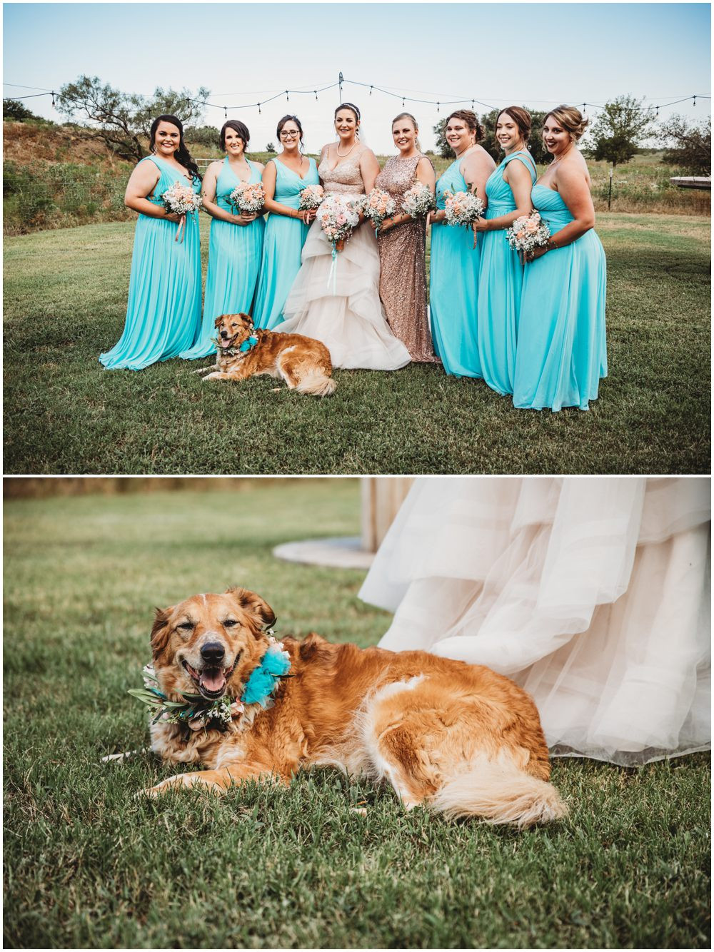 Bridal Shot Golden Retriever