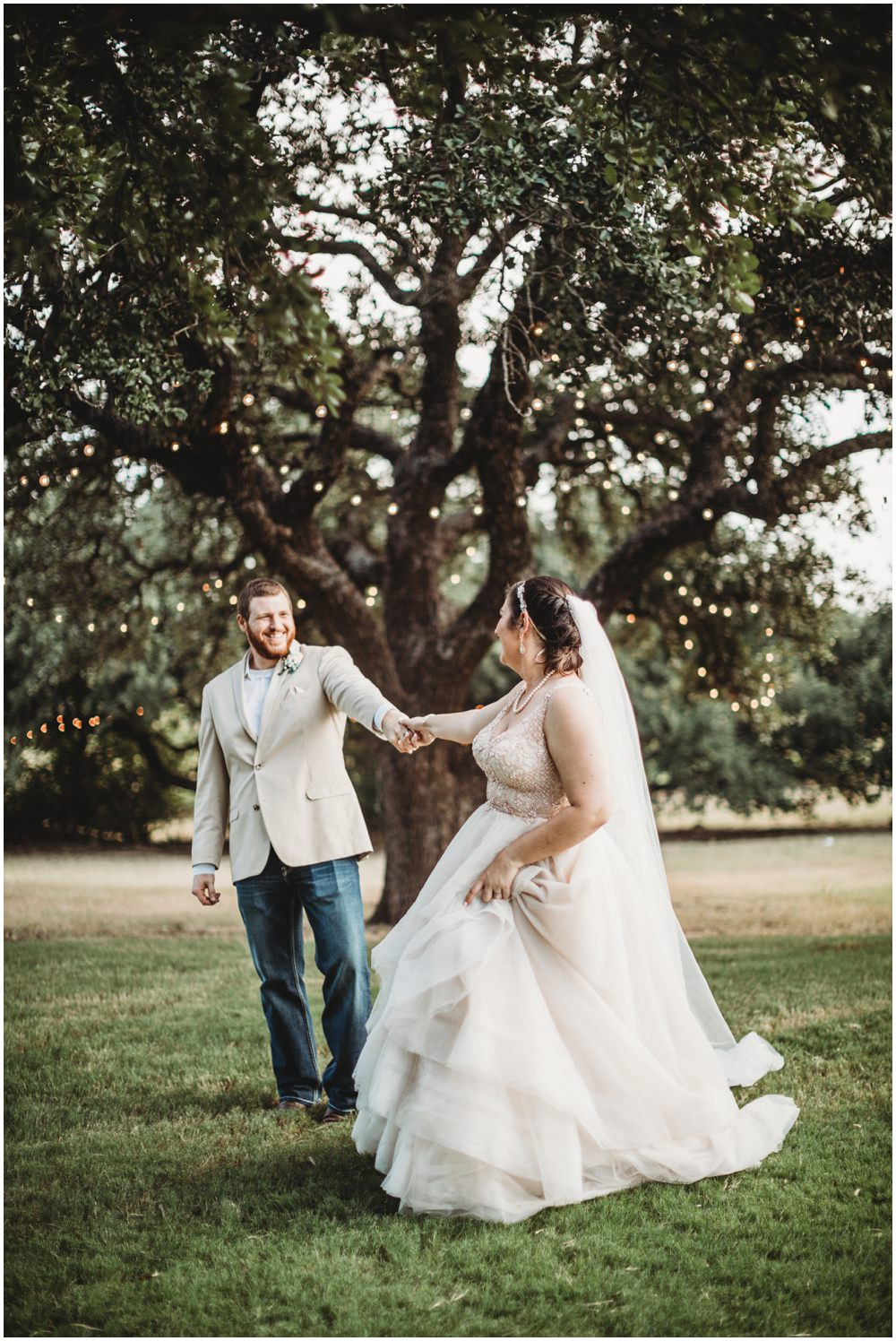 Wedding old oak tree