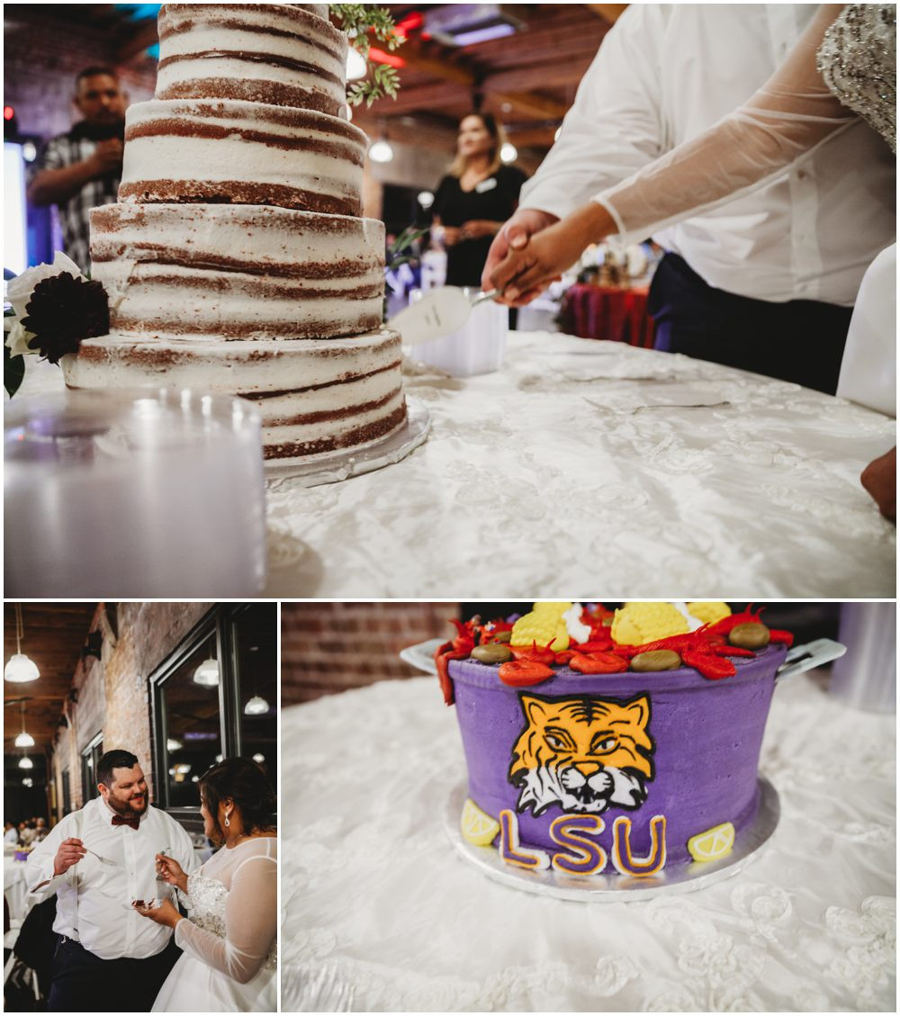 LSU cake wedding cake