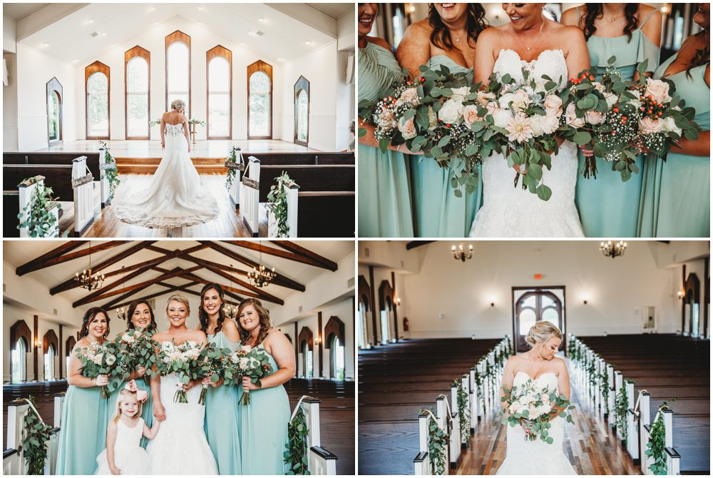 Bridal party green dress