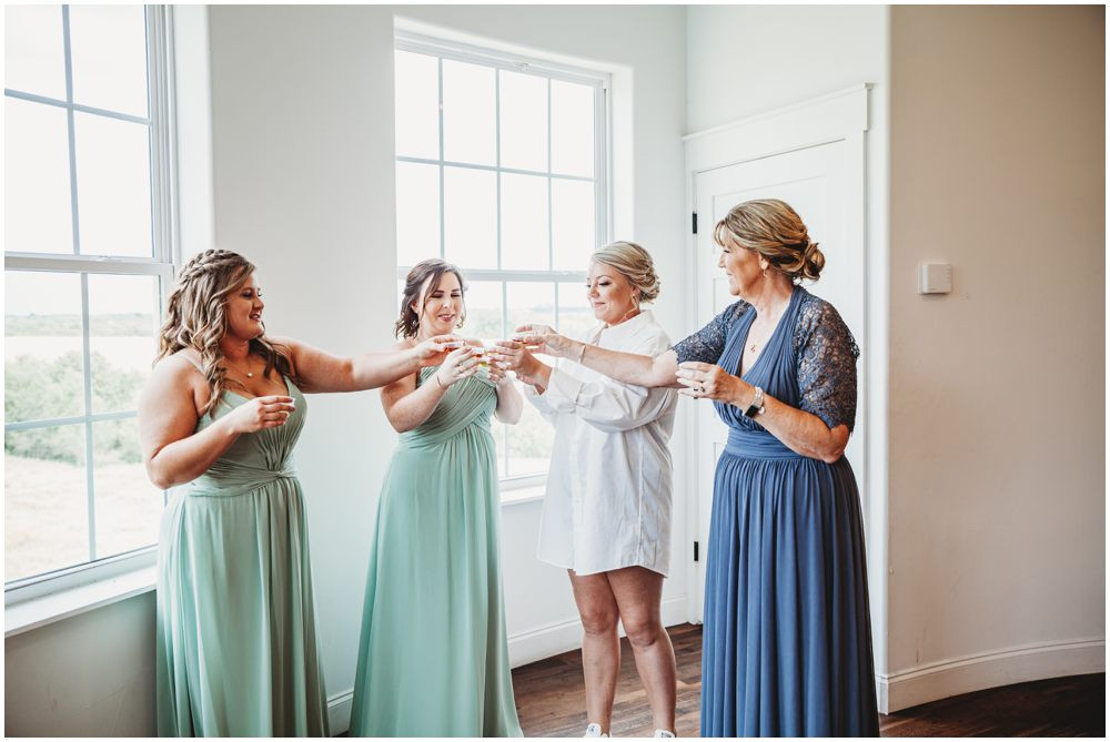 Bridal party drinks
