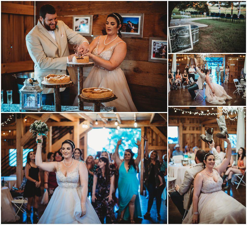Wedding boquet toss