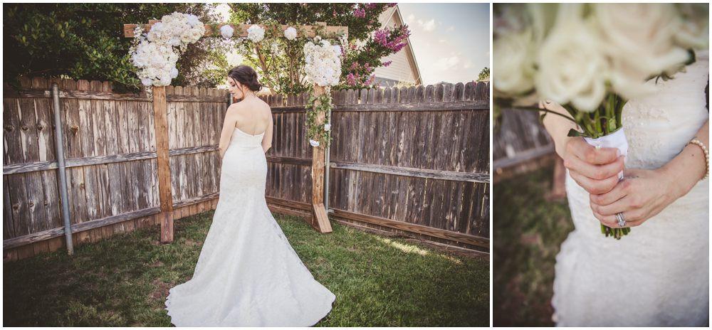 back bride dress