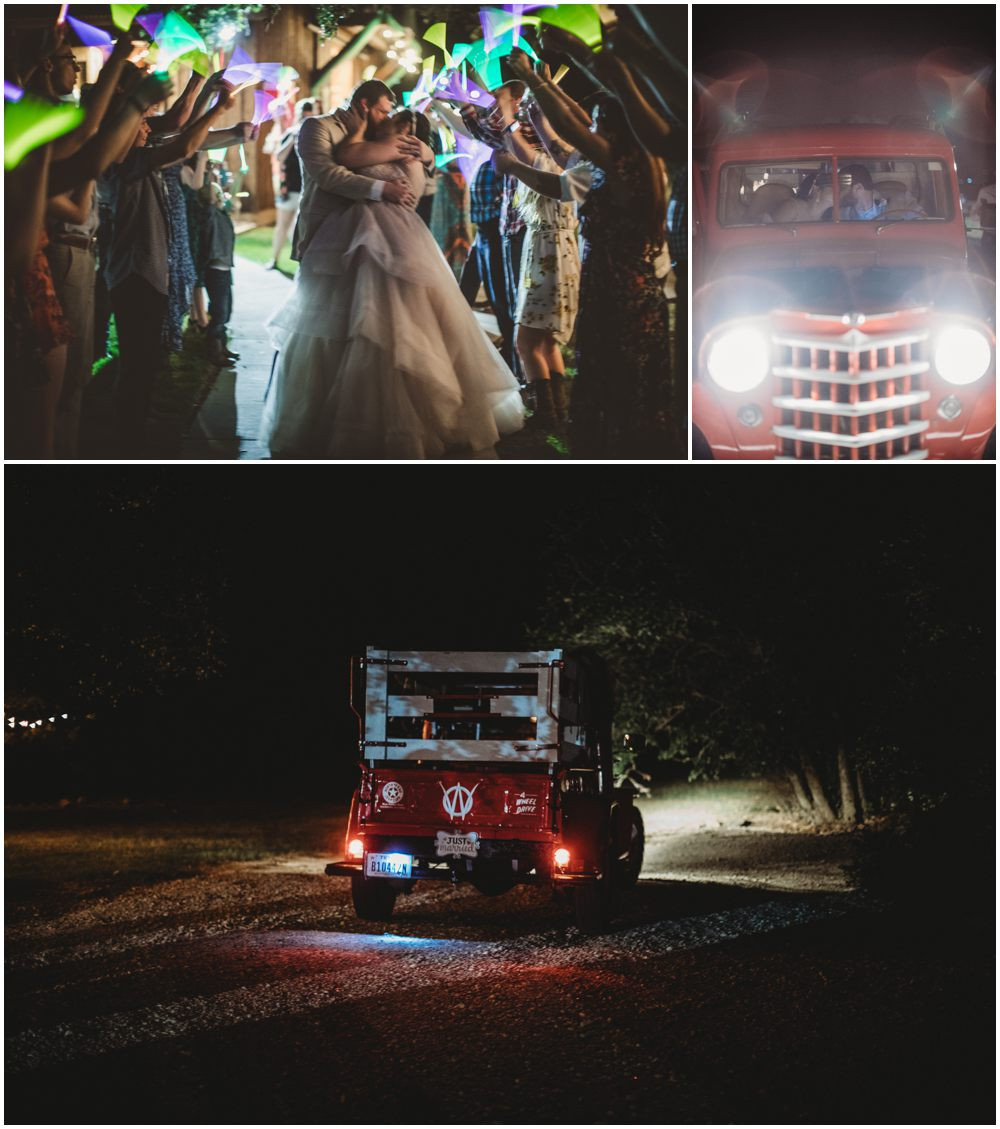 Wedding Glow stick exit