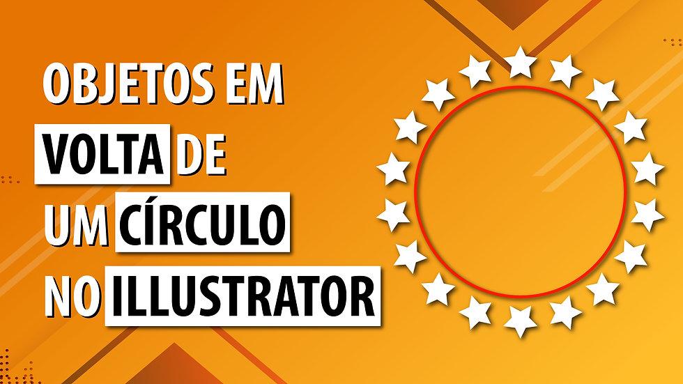 Objetos em volta de um círculo no Illustrator