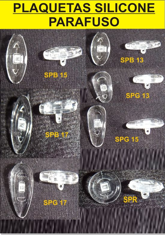Plaqueta Silicone - Diversos Modelos