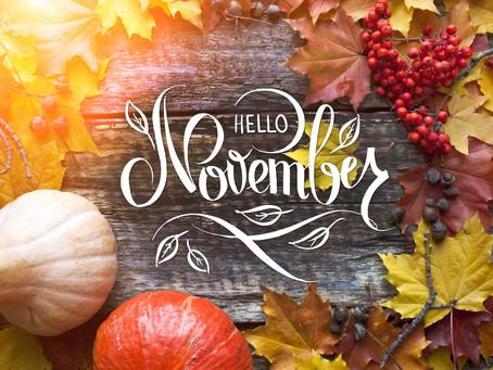 Hello November: Things to do! Treat yourself this November!