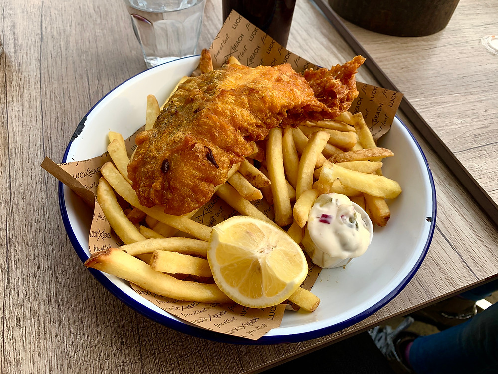 Fish and Chips! A favourite with the kids!