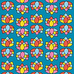 flower power lotus doorlopende printkopi