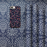 Evening party phone case on wrapping paper