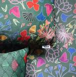 Kabuki pillows on wrapping paper