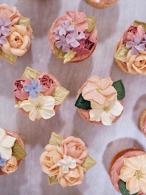 Premium range floral cupcakes (12pc)