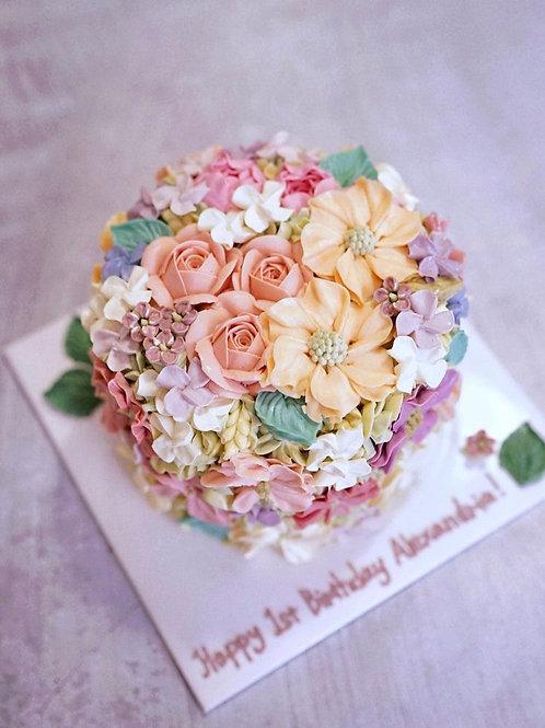 Floral garden cake (6inch)