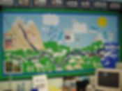 rivers display in classroom