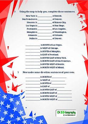 map of america worksheet | usa worksheet