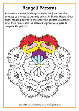 rangoli patterns to colour in