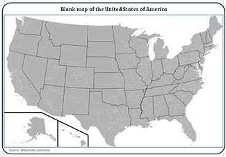 printable blank map of USA | blank map of the US