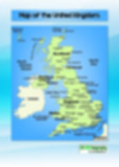UK map with major cities | UK map for kids | map of england for kids