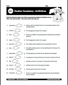 free weather worksheets for learning all about the weather. Black Bedroom Furniture Sets. Home Design Ideas