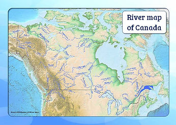 river map of canada for kids | map of rivers of canada