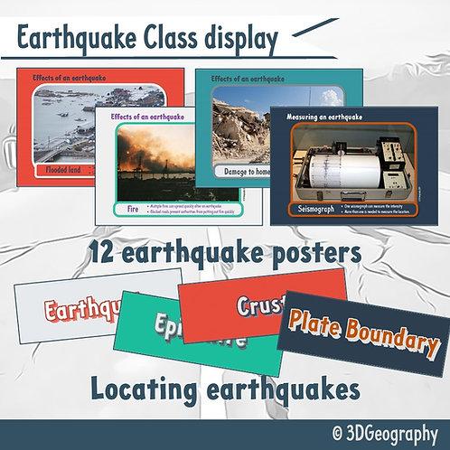 Earthquake class display posters