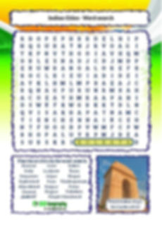 indian word search | india wordsearch ks2