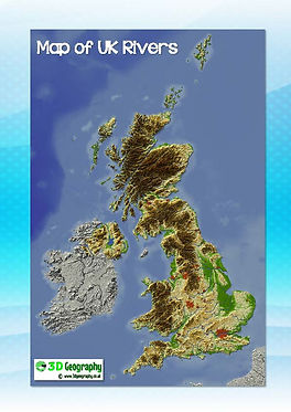 UK map with major rivers