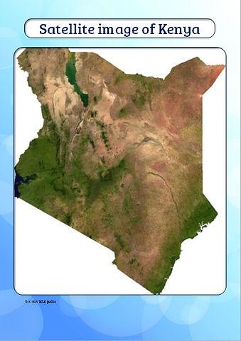 kenya from space | kenya map for kids