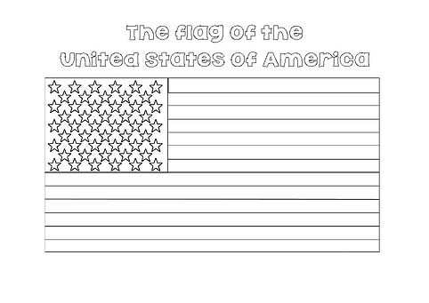colour in american flag
