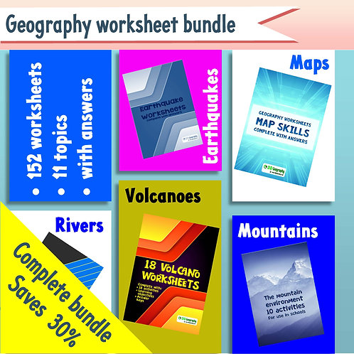 150 Geography worksheets