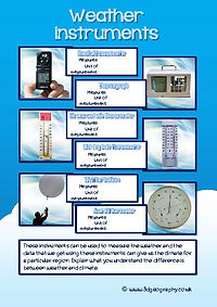 weather instruments worksheets
