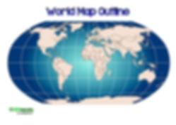 free blank world map pdf