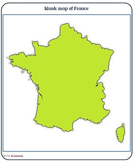 blank map free download of france | outline map france