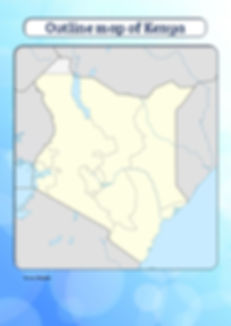 blank map of kenya for kids