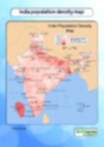 population density map of India | india map pdf